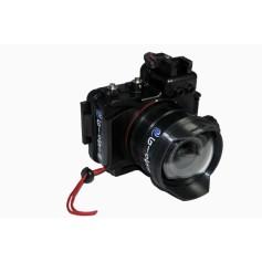 Custodia per Canon M 100 con oblò sferico in Cristallo per 15 /45 e 11/22